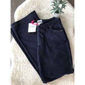 NWT Pajama Jeans Dark Blue Small Boot Cut